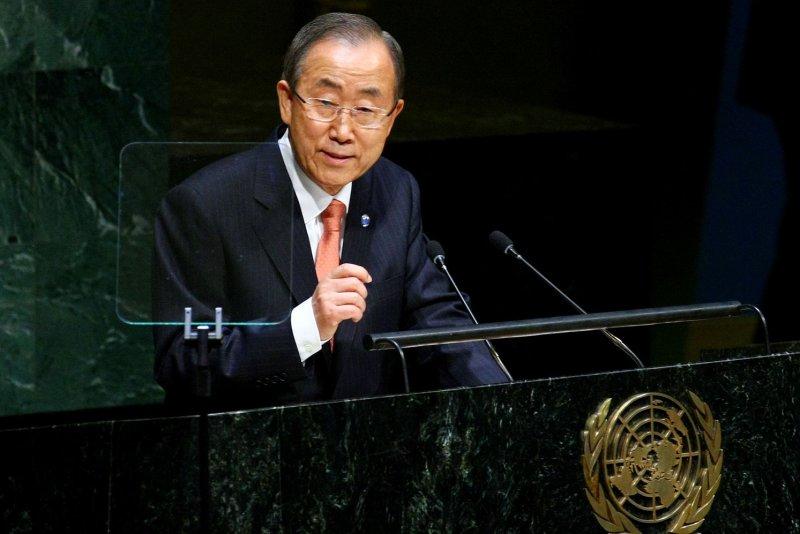 United Nations Secretary General Ban Ki-moon on September 24, 2014. (UPI /Monika Graff)