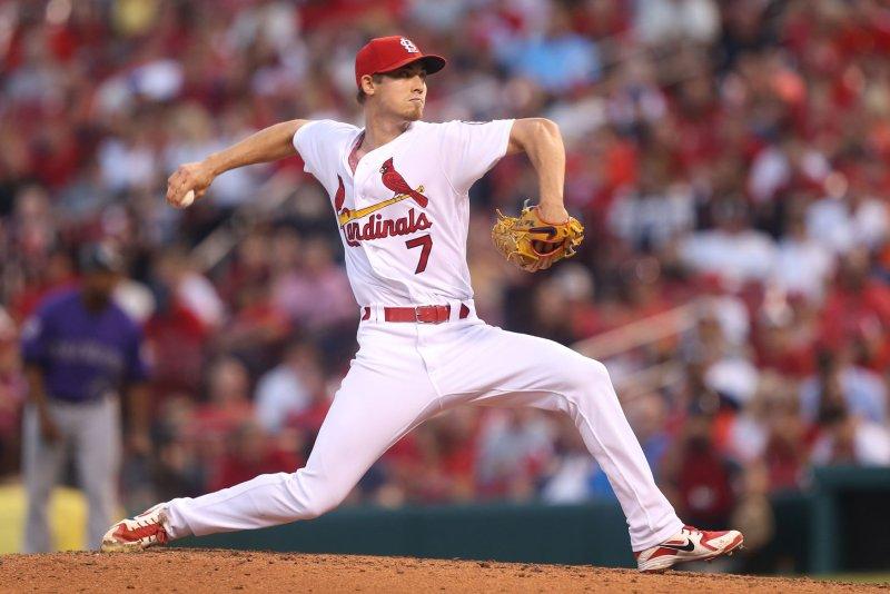 Luke Weaver and the St. Louis Cardinals take on the Washington Nationals on Thursday. Photo by Bill Greenblatt/UPI
