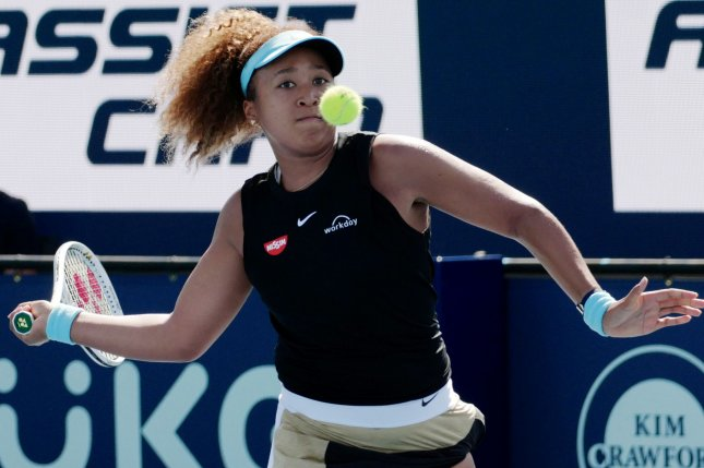 Naomi Osaka says she is comfortable playing in Florida's heat because she grew up training in the state. Photo by Gary I Rothstein/UPI