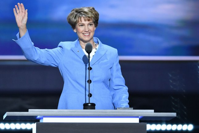 Retired NASA astronaut, Col. Eileen Collins, speaks on Day 3 of the Republican National Convention at Quicken Loans Arena in Cleveland, Ohio, on July 20, 2016. On July 23, 1999, she became the first woman to command a space shuttle flight, with the launch of Columbia on a four-day mission. Photo by Kevin Dietsch/UPI