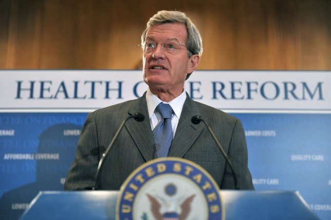 Chariman of the Senate Finance Committee Max Baucus (D-MT) speaks on health care reform at a press conference on Capitol Hill in Washington on September 16, 2009. UPI/Kevin Dietsch