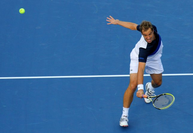 Richard Gasquet, shown at last year's U.S. Open gained a spot in the semifinals of the Open Sud de France ATP tournament with a win Friday. Gasquet is the defending champion of the tournament. UPI /Monika Graff