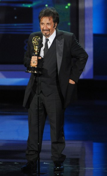 Al Pacino, shown at the Emmy Awards in Los Angeles Aug. 29, 2010. UPI/Jim Ruymen