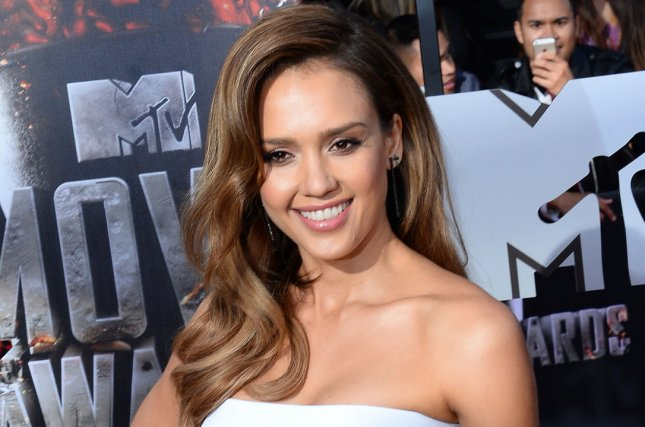 Actress Jessica Alba arrives for The MTV Movie Awards at Nokia Theatre L.A. Live in Los Angeles, California on April 13, 2014. UPI/Jim Ruymen