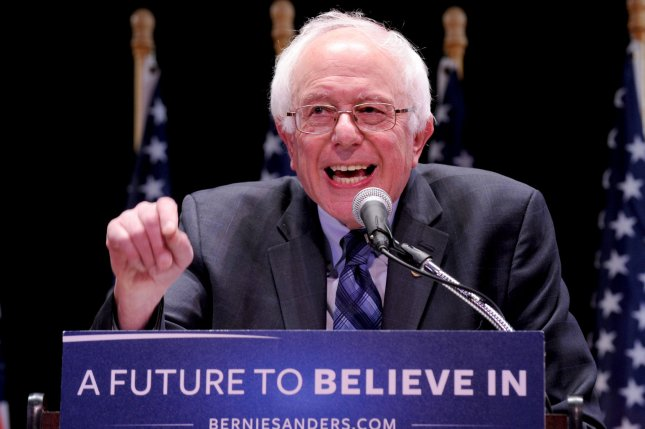 Democratic presidential candidate Sen. Bernie Sanders called on the White House to end the recent deportation raids and extend temporary protected status to families who fled violence in Central America. Photo by Dennis Van Tine/UPI