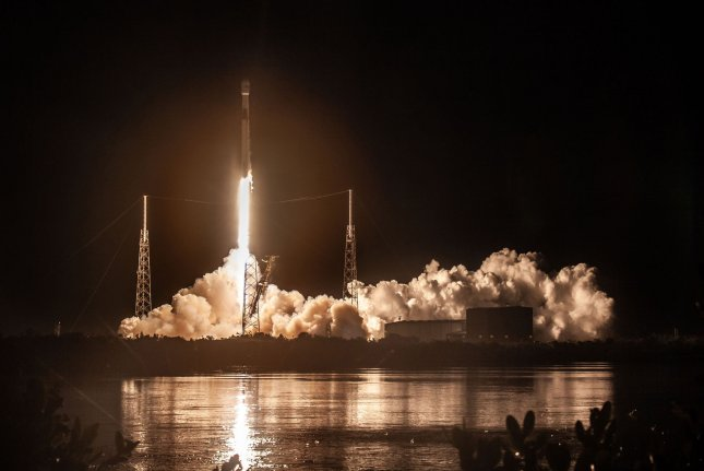SpaceX successfully launches the Telstar 18 VANTAGE satellite from Space Launch Complex 40 (SLC-40) at Cape Canaveral Air Force Station in Florida on Monday. Photo by SpaceX/UPI