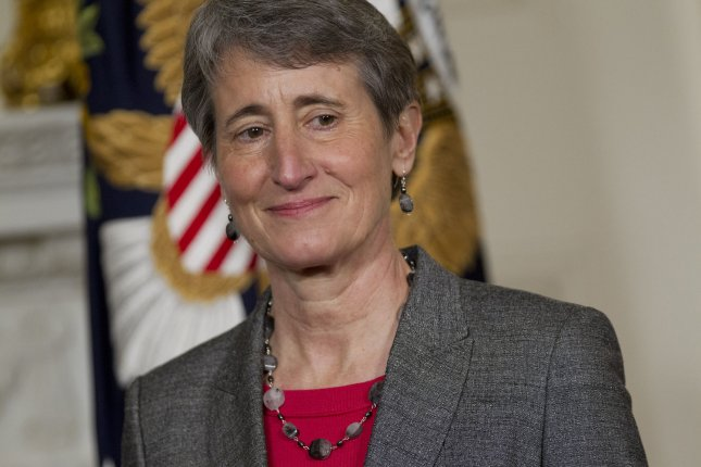 U.S. President Barack Obama (not shown) announces Sally Jewell, chief executive officer of Recreational Equipment Inc., as his nominee to become secretary of the U.S. Interior Department at the White House in Washington, D.C., on Wednesday, February 6, 2013. Obama said Jewell's background as an engineer and experience in the banking, energy and retail industries give her the skills needed to manage a department that oversees 500 million acres of public land. UPI/Andrew Harrer/Pool