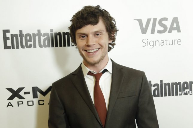 Evan Peters arrives on the red carpet at a New York screening of X-Men Apocalypse on May 24, 2016. Peters is set to reprise his role in the X-Men series as Quicksilver. File Photo by John Angelillo/UPI