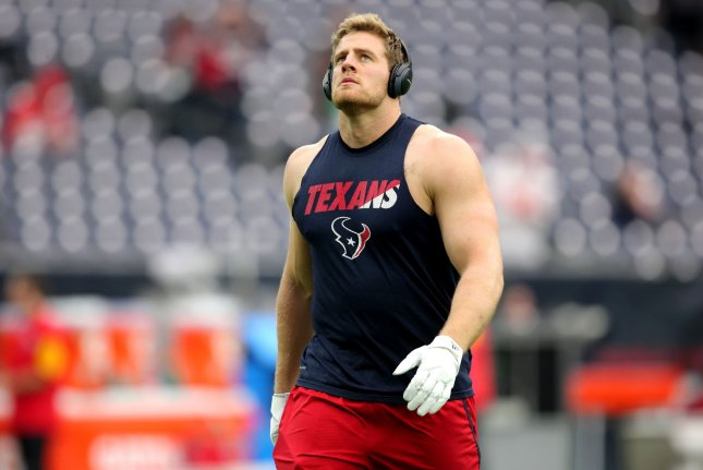 With most public and media attention focused on the all-important quarterback position and J.J. Watt's (pictured) return, one of the key battles to watch in camp this summer will be at strong safety. Photo by Erik Williams/UPI