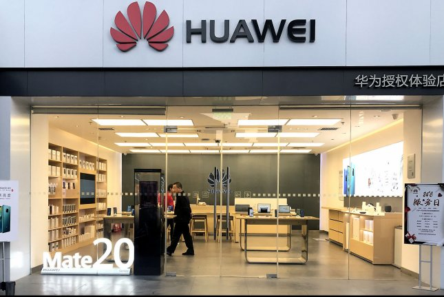 A Huawei computer and smartphone showroom is seen in Beijing, China, on December 10, 2018. Photo by Stephen Shaver/UPI