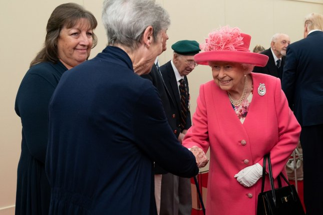 Britain's Queen Elizabeth II posed with the heirs to her throne in a new photo released to mark the start of the new year. File Photo by Andrea Hanks/UPI