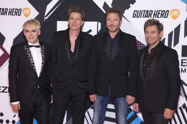 Nick Rhodes (L), pictured with John Taylor, Simon Le Bon and Roger Taylor of Duran Duran, from left to right, recalled how the band turned down a collaboration with Michael Jackson. File Photo by David Silpa/UPI