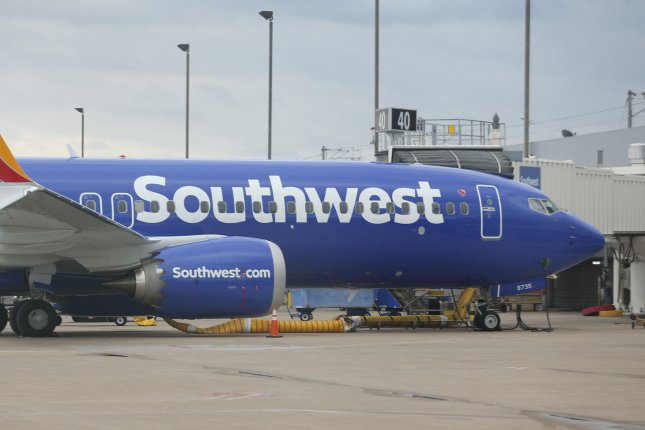 Southwest Airlines canceled 1,044 flights on Sunday after canceling 808 flights Saturday citing air traffic control issues and disruptive weather. File Photo by Bill Greenblatt/UPI