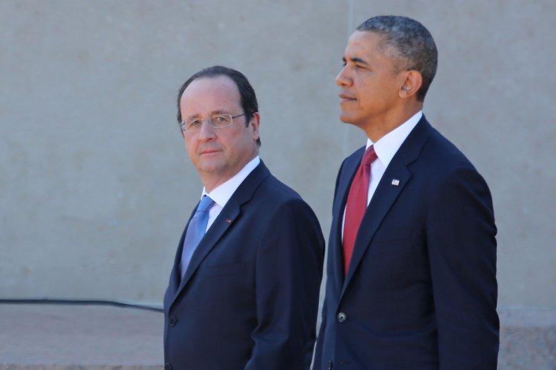 French President Francois Hollande (L) and U.S. President Barack Obama, pictured in June 2014. UPI/David Silpa