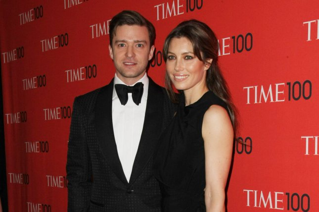 Justin Timberlake and Jessica Biel arrive at the TIME 100 Gala at Jazz at Lincoln Center on April 23, 2013 in New York City. Photo by Monika Graff/UPI
