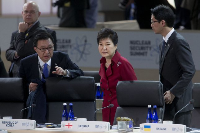 South Korean President Park Geun-hye apologized for her involvement with longtime acquaintance Choi Soon-sil on Friday. File Pool Photo by Andrew Harrer/Pool