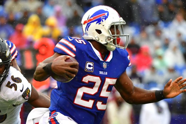 Buffalo Bills running back LeSean McCoy (25) rushes against the Baltimore Ravens during their game at M&T Bank Stadium in Baltimore, Maryland on September 9, 2018. Photo by Kevin Dietsch/UPI