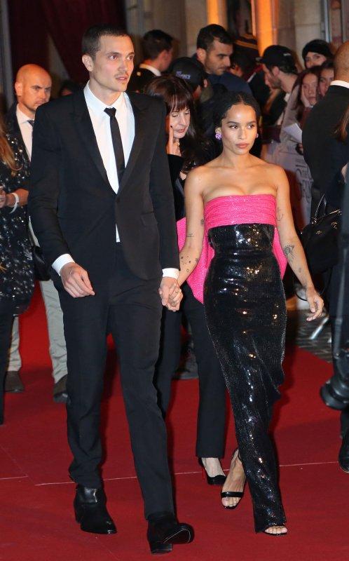 Zoe Kravitz, Karl Glusman return to red carpet after engagement