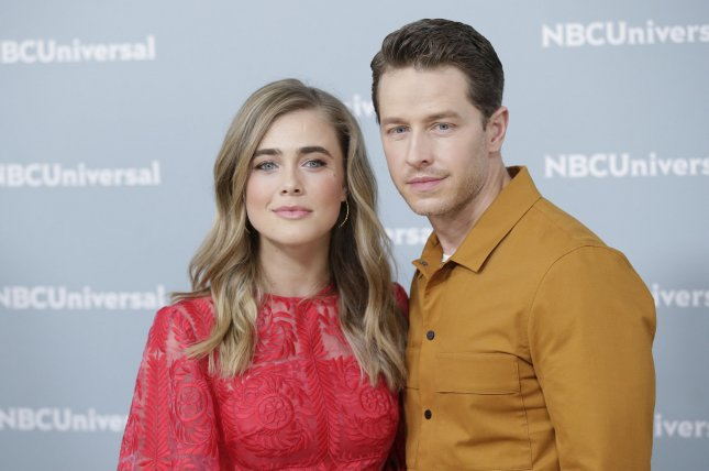 Manifest stars Melissa Roxburgh and Josh Dallas arrive on the red carpet at the 2018 NBCUniversal Upfront in 2018 in New York City. File Photo by John Angelillo/UPI