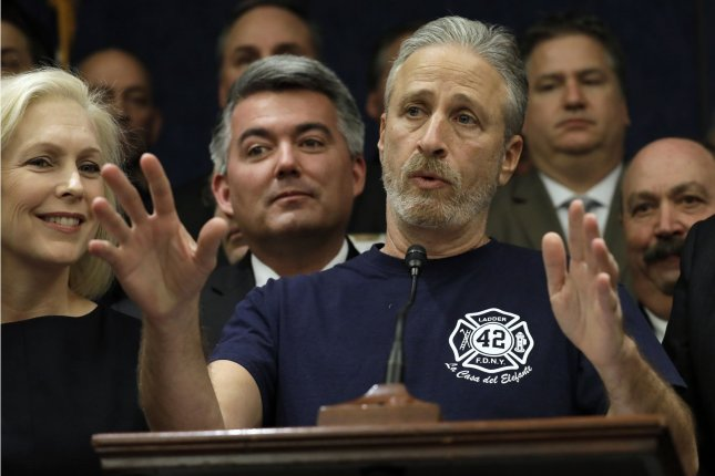 Jon Stewart returns to TV with his first Apple series, The Problem with Jon Stewart, this fall. File Photo by Yuri Gripas/UPI