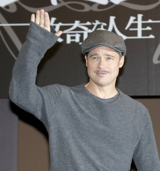 Actor Brad Pitt attends attends a press conference for the film The Curious Case of Benjamin Button in Tokyo, Japan, on January 28, 2009. (UPI Photo/Keizo Mori)
