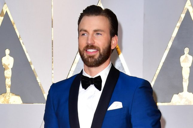 Chris Evans attends the Academy Awards on February 26. The actor will star with Michael Cera in a new production of Lobby Hero. File Photo by Kevin Dietsch/UPI