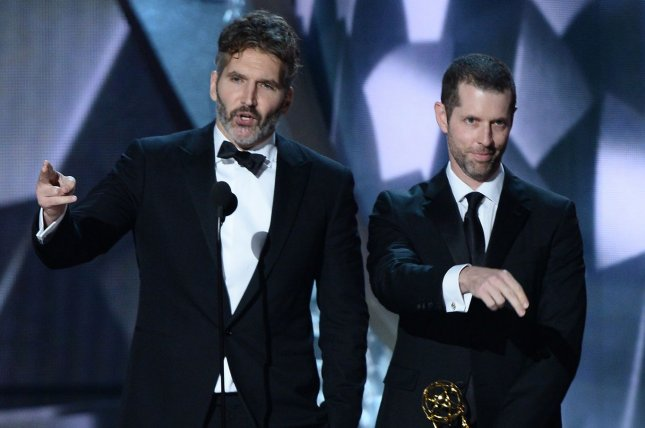 Writer/producers D.B. Weiss and David Benioff are following up their show Game of Thrones with a string of Star Wars movies, it was announced Tuesday. File Photo by Jim Ruymen/UPI