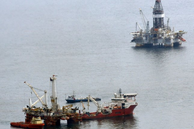 Scotland's government sees an economic boost from recovery in the North Sea oil and gas sector, but also sees pressure coming from the British exit from the European Union. File Photo by A.J. Sisco/UPI