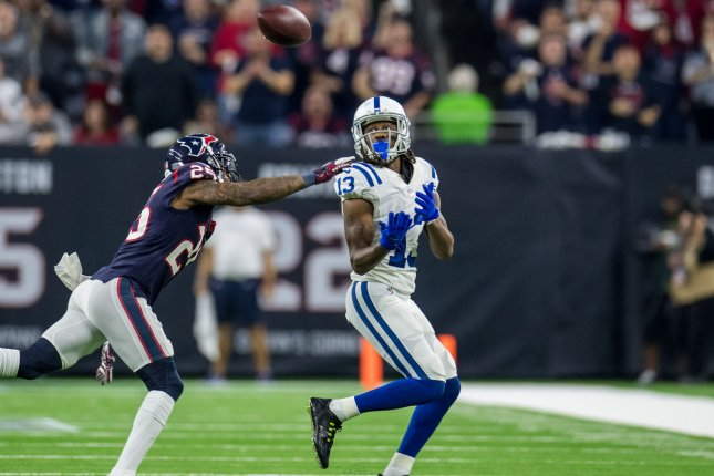 Indianapolis Colts wide receiver T.Y. Hilton (R) made his return to the field in Week 12 after a three-week absence. Photo by Trask Smith/UPI