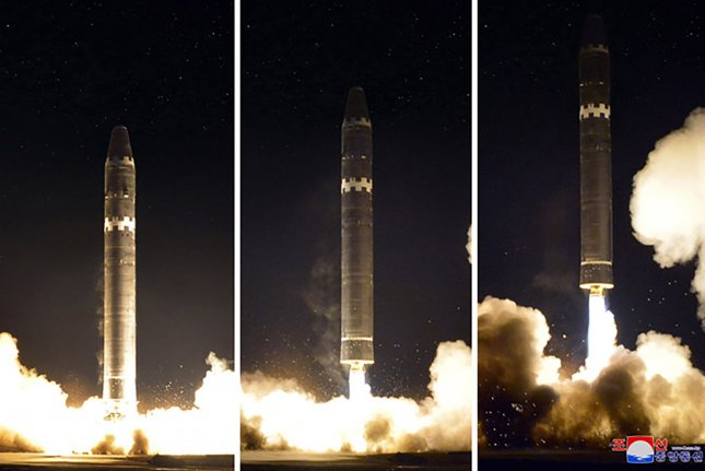 Independent estimates of North Korea's nuclear weapons are up from 2019. File Photo by KCNA/UPI