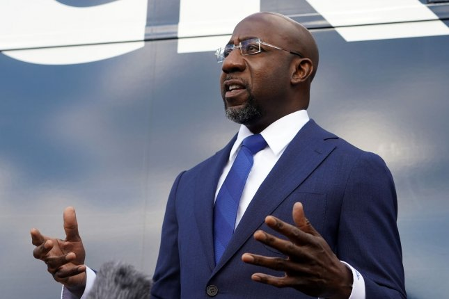 Democrat Raphael Warnock has defeated Republican appointee Sen. Kelly Loeffler for one of two Senate seats up for grabs in runoff elections. Photo by Tami Chappell/UPI