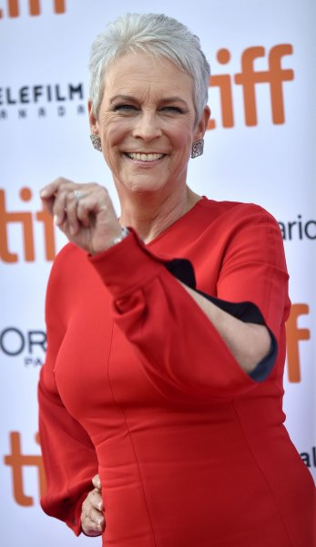 Jamie Lee Curtis attends the world premiere of Knives Out at the Toronto International Film Festival in 2019. Curtis jokingly explained why her character and several others wouldn't appear in the sequels. File Photo by Chris Chew/UPI