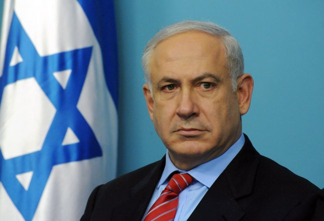 Israeli Prime Minister Benjamin Netanyahu holds a press conference at his office in Jerusalem, January 17, 2010. Netanyahu spoke about housing and building reforms in Israel. UPI/Debbie Hill