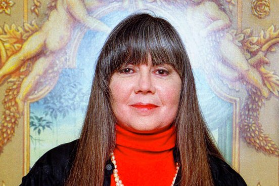 NOP2000101201 - 12 OCTOBER 2000 - NEW ORLEANS, LOUISIANA, USA: Novelist Anne Rice stands inside the elaborately decorated private elevator inside her Garden District home in New Orleans. rlw/aj/A.J. Sisco UPI