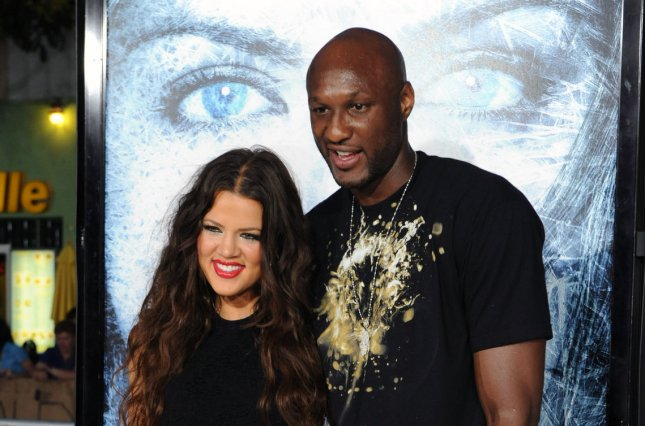 Khloe Kardashian (L) and Lamar Odom at the Los Angeles premiere of 'Whiteout' on September 9, 2009. The reality star addressed her relationship with Odom and boyfriend James Harden in a recent interview. File Photo by Jim Ruymen/UPI