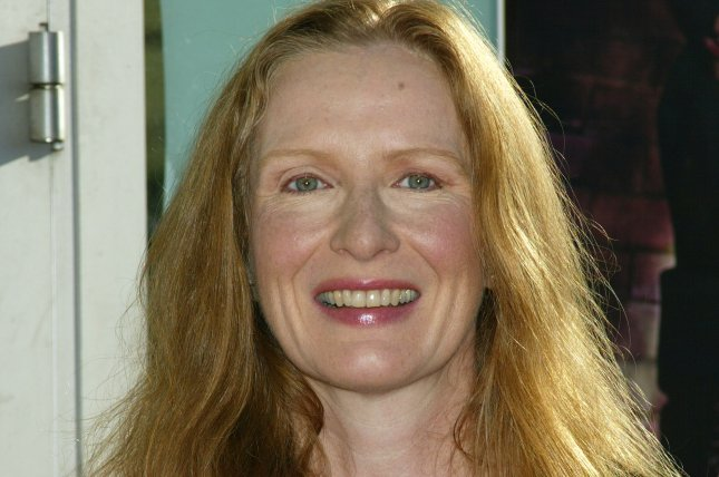 Actress and cast member Frances Conroy arrives for the premiere of her film, Catwoman, in Los Angeles on July 19, 2004. File Photo by Francis Specker/UPI