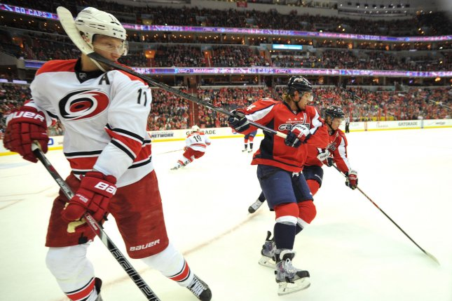 Carolina Hurricanes center Jordan Staal. File photo by Kevin Dietsch/UPI