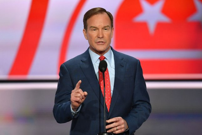 Michigan Attorney General Bill Schuette warns civil action is possible against a tug company that damaged electric power lines and an Enbridge oil pipeline in northern Michigan waters. Photo by Kevin Dietsch/UPI