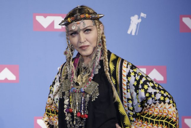 Madonna uploaded to Instagram the cover for her upcoming single with Maluma titled Medellin. File Photo by Serena Xu-Ning/UPI