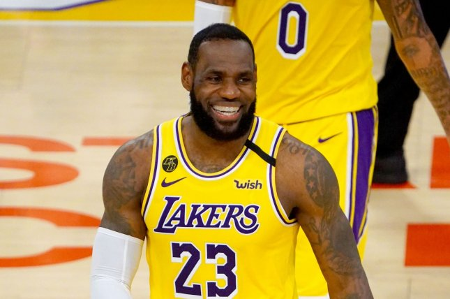 LeBron James (pictured) and the Los Angeles Lakers will square off against Kawhi Leonard's L.A. Clippers on the opening night of the NBA's restart. File Photo by Jon SooHoo/UPI