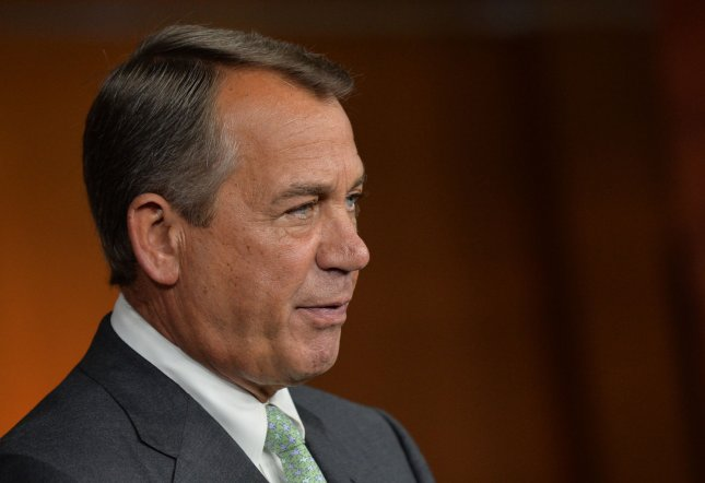Speaker of the House John Boehner (R-OH) holds a press conference on Capitol Hill on April 18, 2013 in Washington, D.C. UPI/Kevin Dietsch