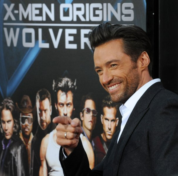 Actor Hugh Jackman, who stars in the motion picture sci-fi thriller X-Men Origins: Wolverine, attends an industry screening of the film at Grauman's Chinese Theatre in the Hollywood section of Los Angeles on April 28, 2009. (UPI Photo/Jim Ruymen)