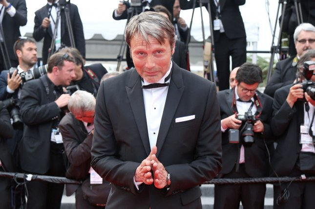 Mads Mikkelsen arrives at the screening of Le Glace Et Le Ciel during the 68th annual Cannes International Film Festival in France on May 24, 2015. File Photo by David Silpa/UPI