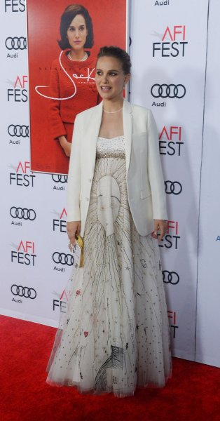 Cast member Natalie Portman attends the premiere of Jackie as part of AFI Fest in Los Angeles on November 14. Photo by Jim Ruymen/UPI