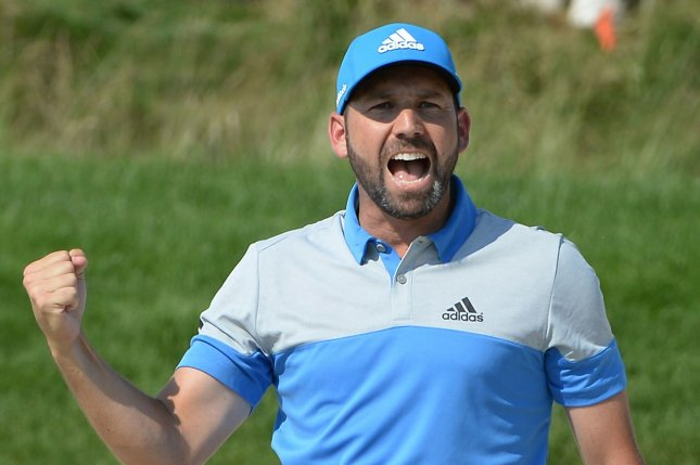 Sergio Garcia of Spain. Photo by Pat Benic/UPI