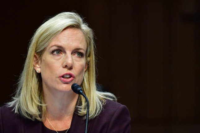 Homeland Security Secretary Kirstjen.Nielsen said the U.S. response to a cyberattack will be swift. File Photo by Kevin Dietsch/UPI