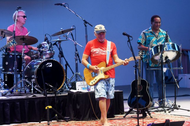 Jimmy Buffett and the Coral Reefer Band perform at the Hollywood Arts Park Amphitheater in Hollywood, Florida, on August 23, 2018. Buffett licensed his Coral Reefer brand to Georgia-based medical cannabis company, Surterra Wellness. Photo by Gary I Rothstein/UPI