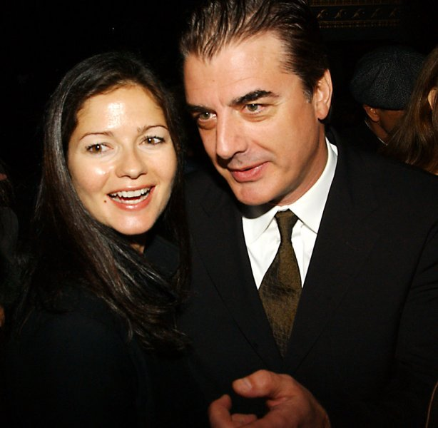 Chris Noth and Jill Hennessey former cast members with Orbach on the tv series Law and Order attend the March 24, 2005 memorial service in New York for actor Jerry Orbach who died in Dec. 2004 from cancer. (UPI Photo/Ezio Petersen)
