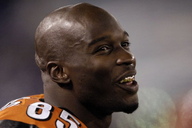 Cincinnati Bengals wide receiver Chad Johnson (85) smile on the bench late in the fourth quarter during the game against the Baltimore Ravens on November 11, 2007 at M&T Bank Stadium in Baltimore, Maryland. Johnson caught four passes for 73 yards as the Bengals defeated the Ravens 21-7. (UPI Photo/ Mark Goldman)