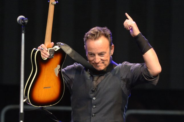 American singer Bruce Springsteen performs with The E- Street Band at Wembley Stadium in London on June 15, 2013. UPI/ Rune Hellestad